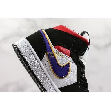 """AAA Quality Air Jordan 1 Retro Mid SE """"Rivals"""" 852542-005 Mens field purple/white-gym red Shoes replicas On Wholesale Sale Online"""