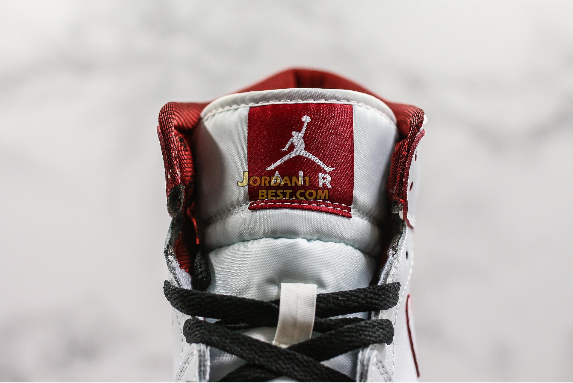 "Air Jordan 1 Retro Mid GS ""White Gym Red"" 554725-103 Womens"