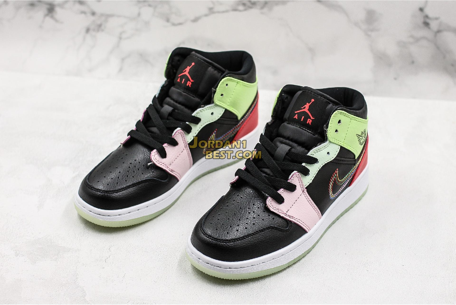"Air Jordan 1 Mid ""Glow In The Dark"" AV5174-076 Womens"