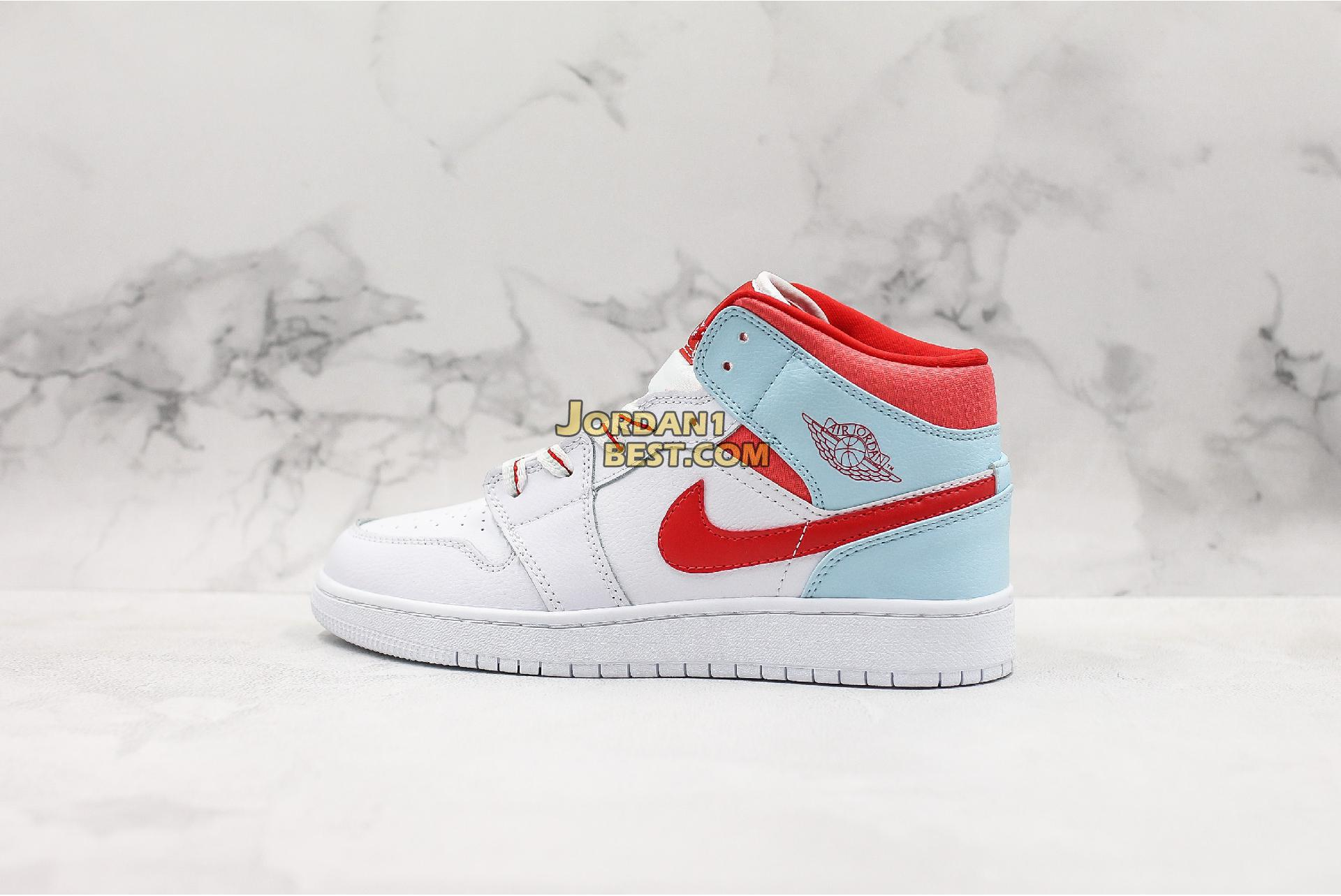 "Air Jordan 1 Mid GS ""Topaz Mist"" 555112-104 Womens"