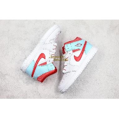 """new replicas Air Jordan 1 Mid GS """"Topaz Mist"""" 555112-104 Womens white/topaz mist Shoes replicas On Wholesale Sale Online"""
