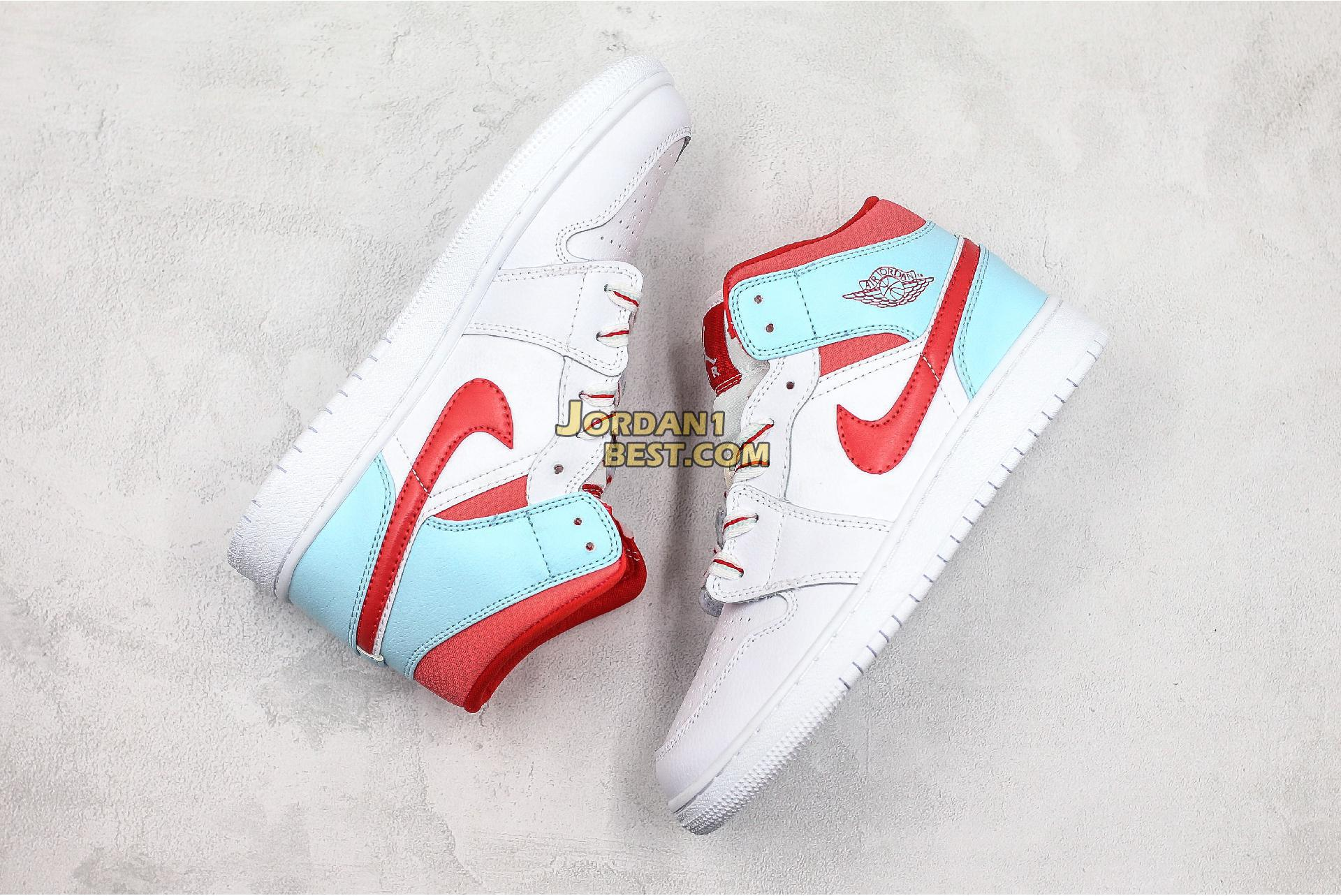 "Air Jordan 1 Mid GS ""Topaz Mist"" 555112-104 Womens"