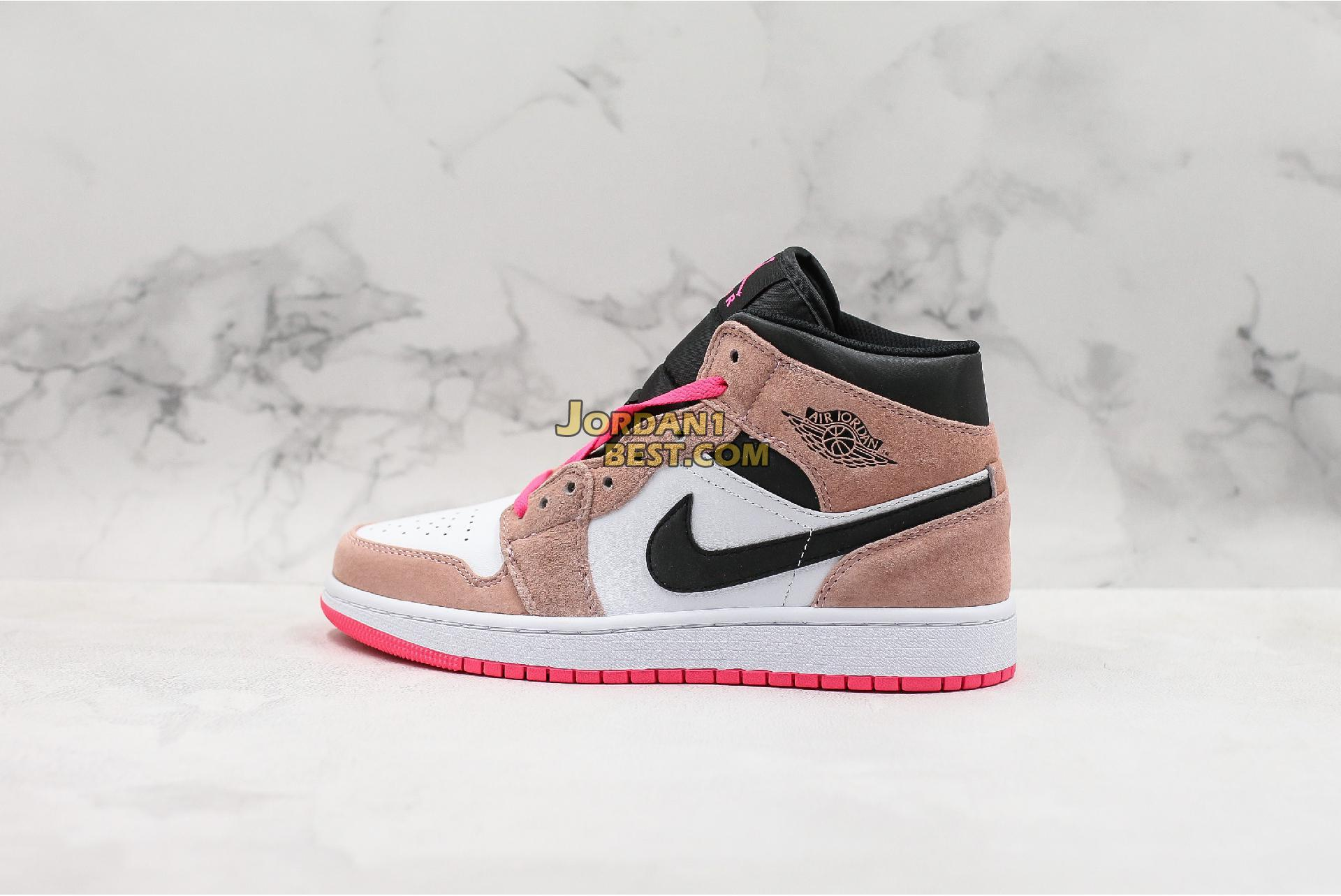 "Air Jordan 1 Mid SE ""Crimson Tint"" 852542-801 Womens"