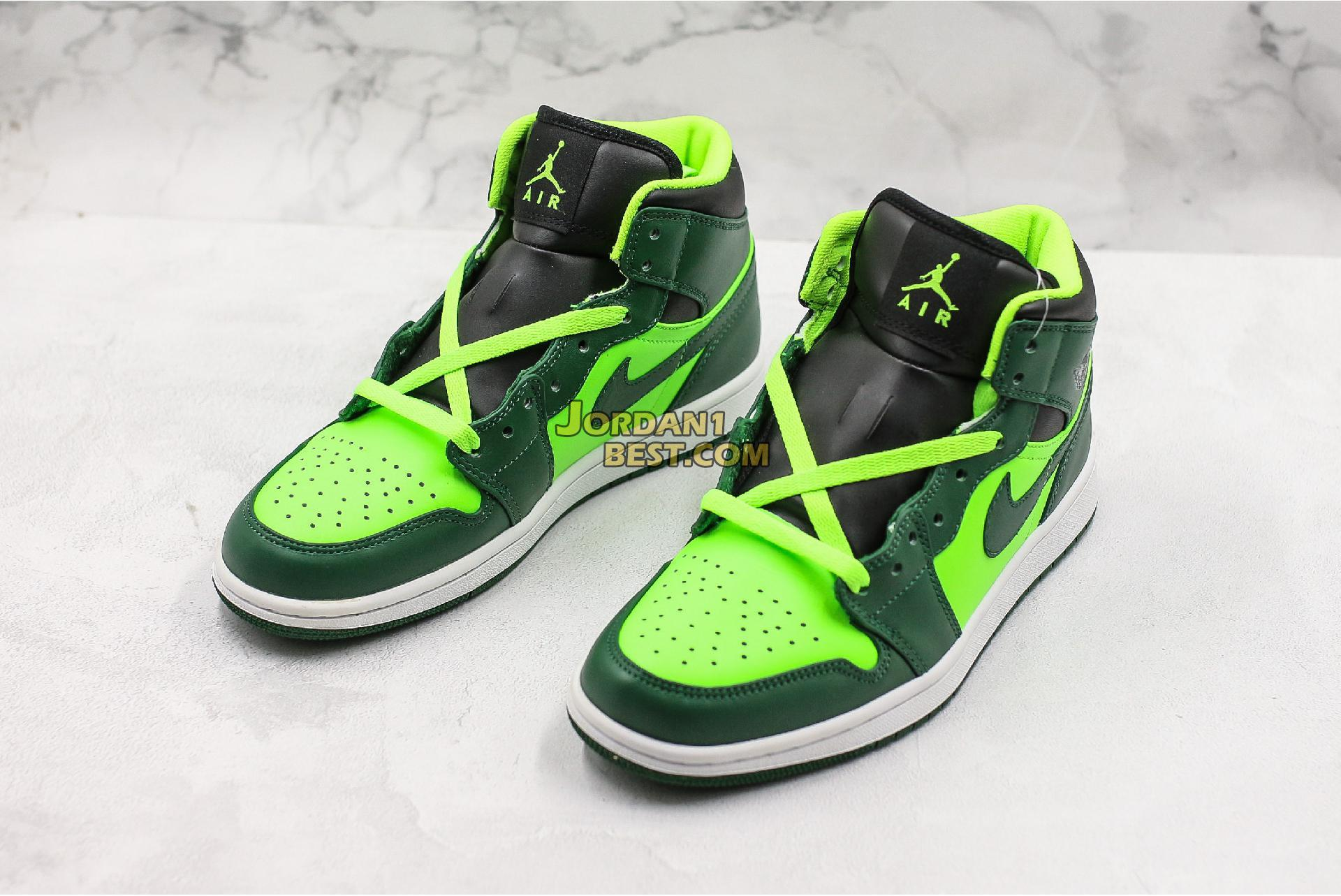 "Air Jordan 1 Mid ""Green"" 852542-300 Mens Womens"