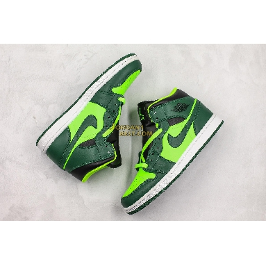 "fake Air Jordan 1 Mid ""Green"" 852542-300 Mens Womens green/black Shoes replicas On Wholesale Sale Online"