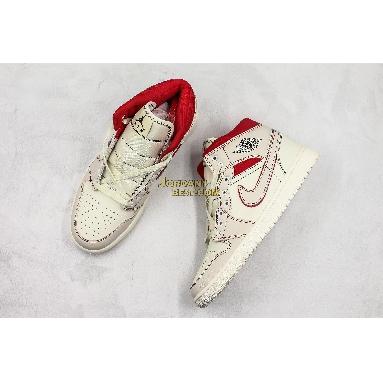 """best replicas Air Jordan 1 Retro High OG """"Phantom"""" 555088-160 Mens Womens sail/black-phantom-university red Shoes replicas On Wholesale Sale Online"""