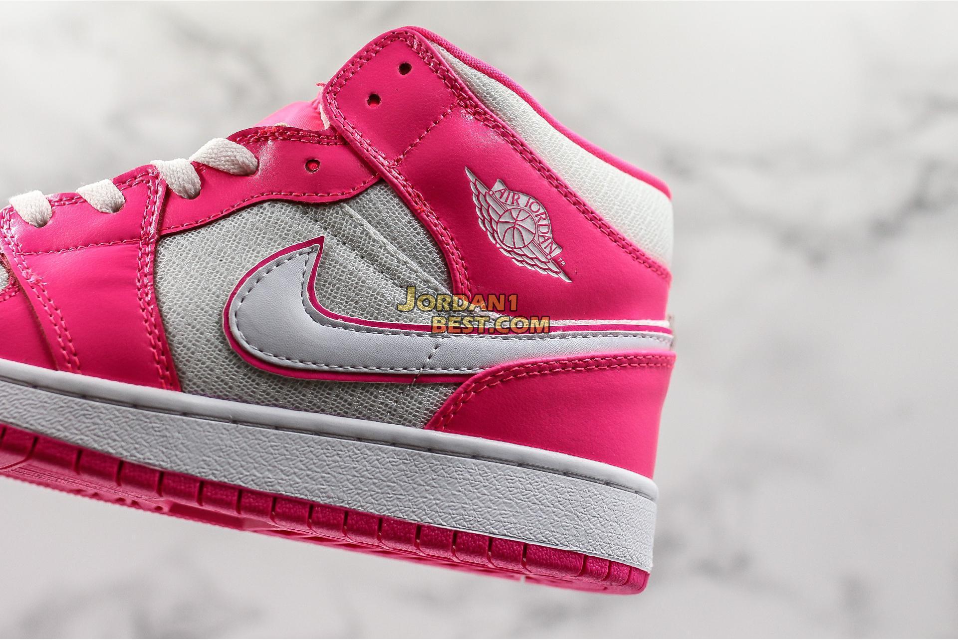 """Air Jordan 1 Mid GS """"Hyper Pink"""" 555112-611 Womens"""