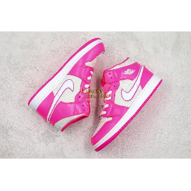 """new replicas Air Jordan 1 Mid GS """"Hyper Pink"""" 555112-611 Womens hyper pink/white-white Shoes replicas On Wholesale Sale Online"""