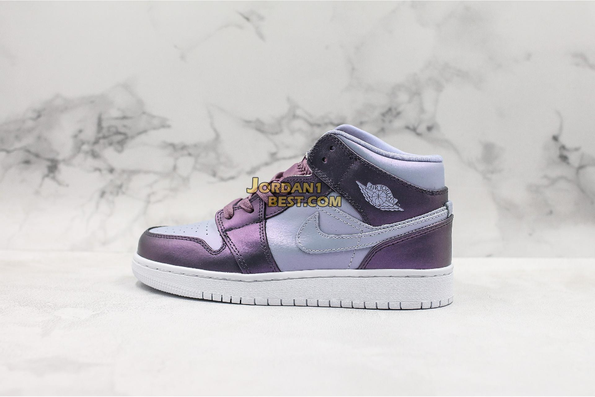 "Air Jordan 1 Mid GS ""Metallic Purple"" AV5174-400 Womens"