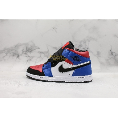 "new replicas Air Jordan 1 Mid GS ""Top 3"" 554725-124 Mens white/black-hyper royal-university red-metallic silver Shoes replicas On Wholesale Sale Online"