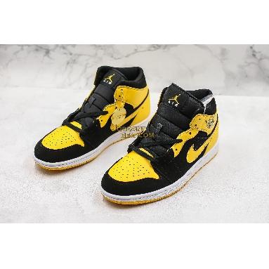 "fake Air Jordan 1 Retro Mid ""New Love"" 554724-035 Mens black/varsity maize-white Shoes replicas On Wholesale Sale Online"