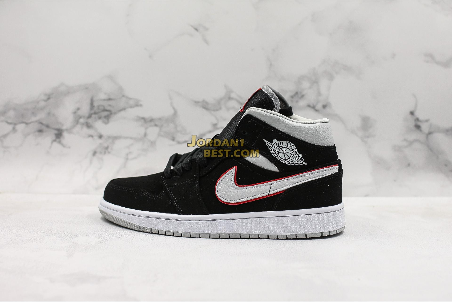 "Air Jordan 1 Mid ""Black Grey"" 554724-060 Mens Womens"