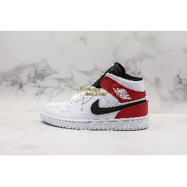 """top 3 fake Air Jordan 1 Mid """"White Chicago"""" 554724-116 Mens Womens white/black-gym red Shoes replicas On Wholesale Sale Online"""
