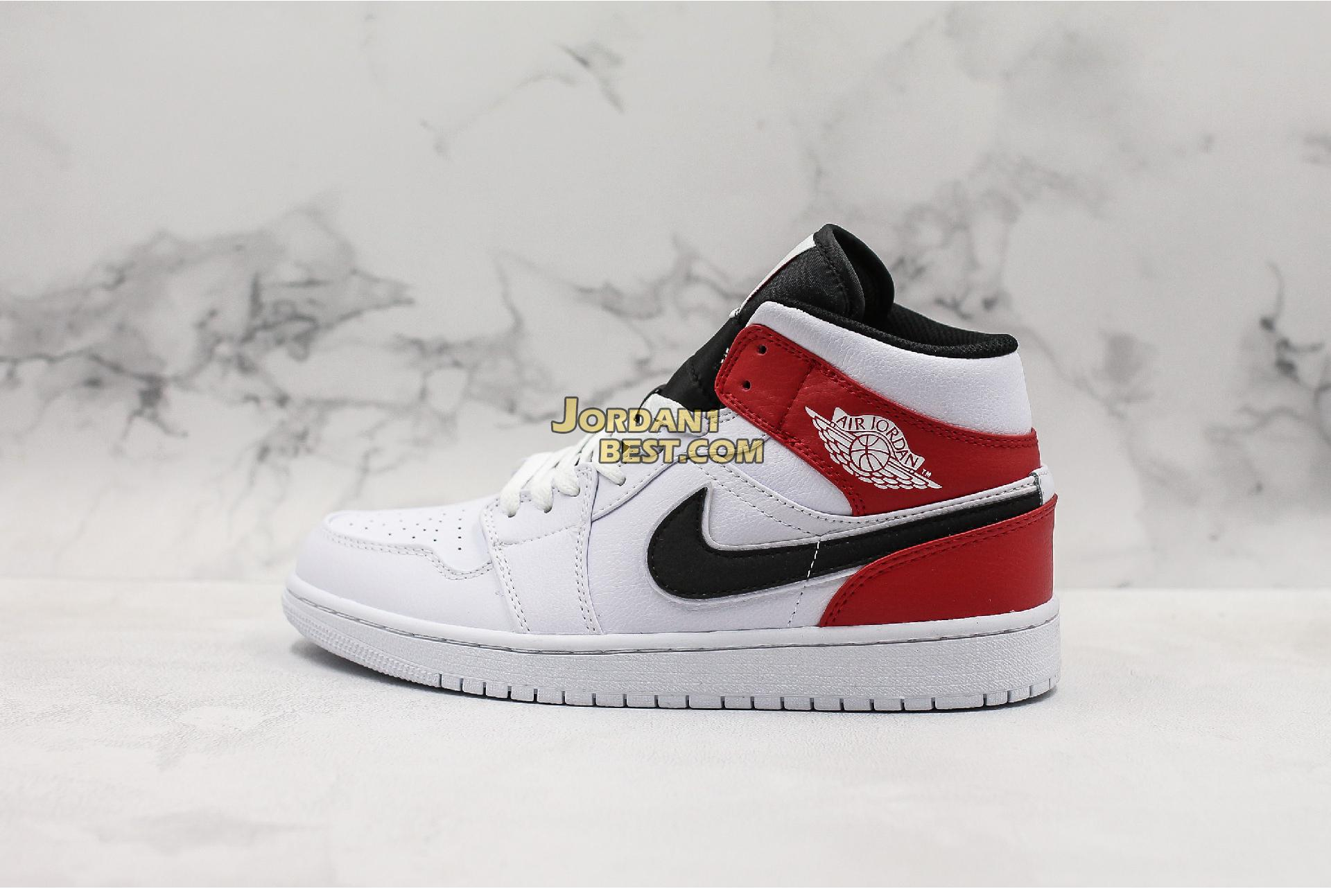 "Air Jordan 1 Mid ""White Chicago"" 554724-116 Mens Womens"