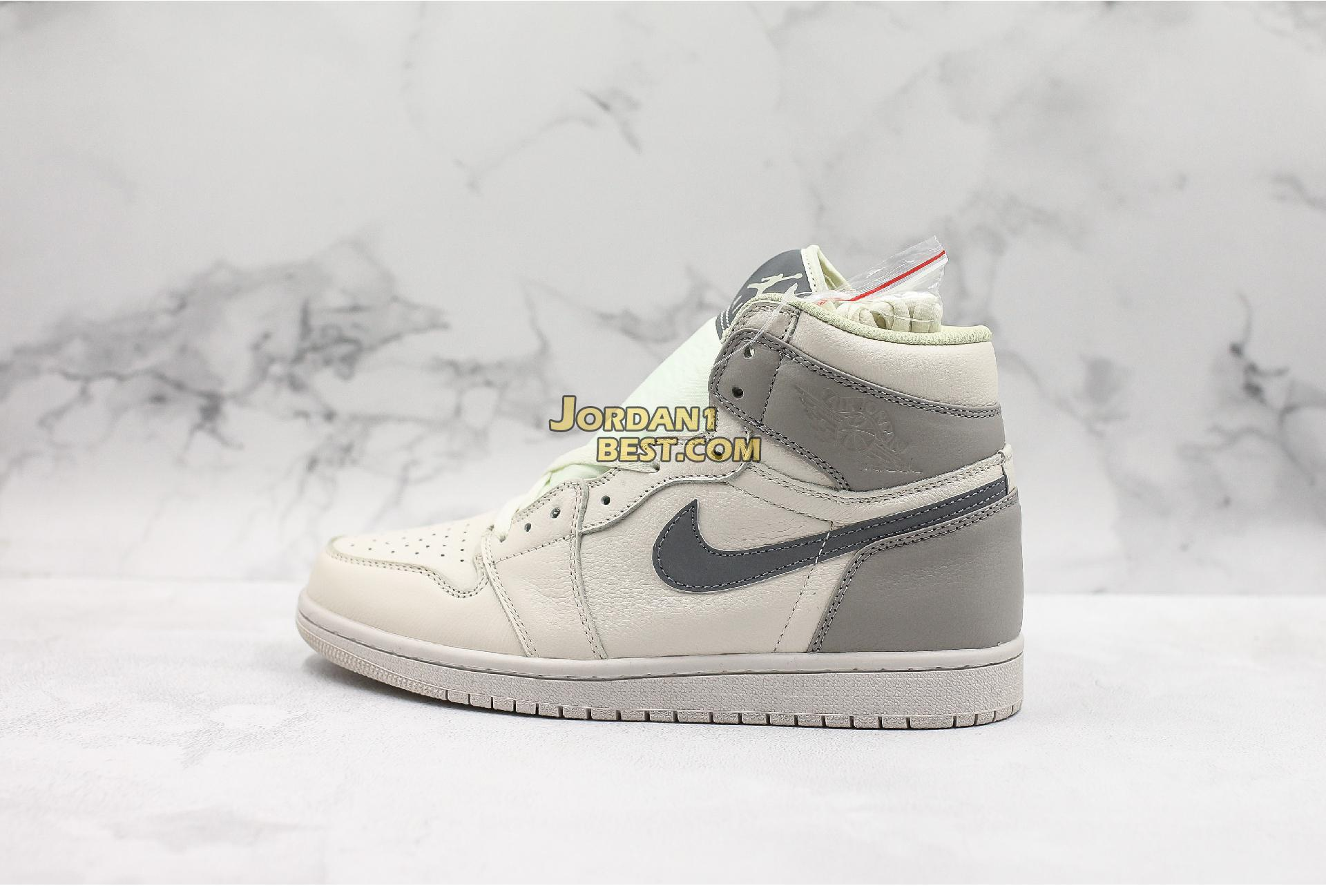 "Air Jordan 1 Mid ""Light Bone Wolf Grey"" 554725-053 Mens Womens"