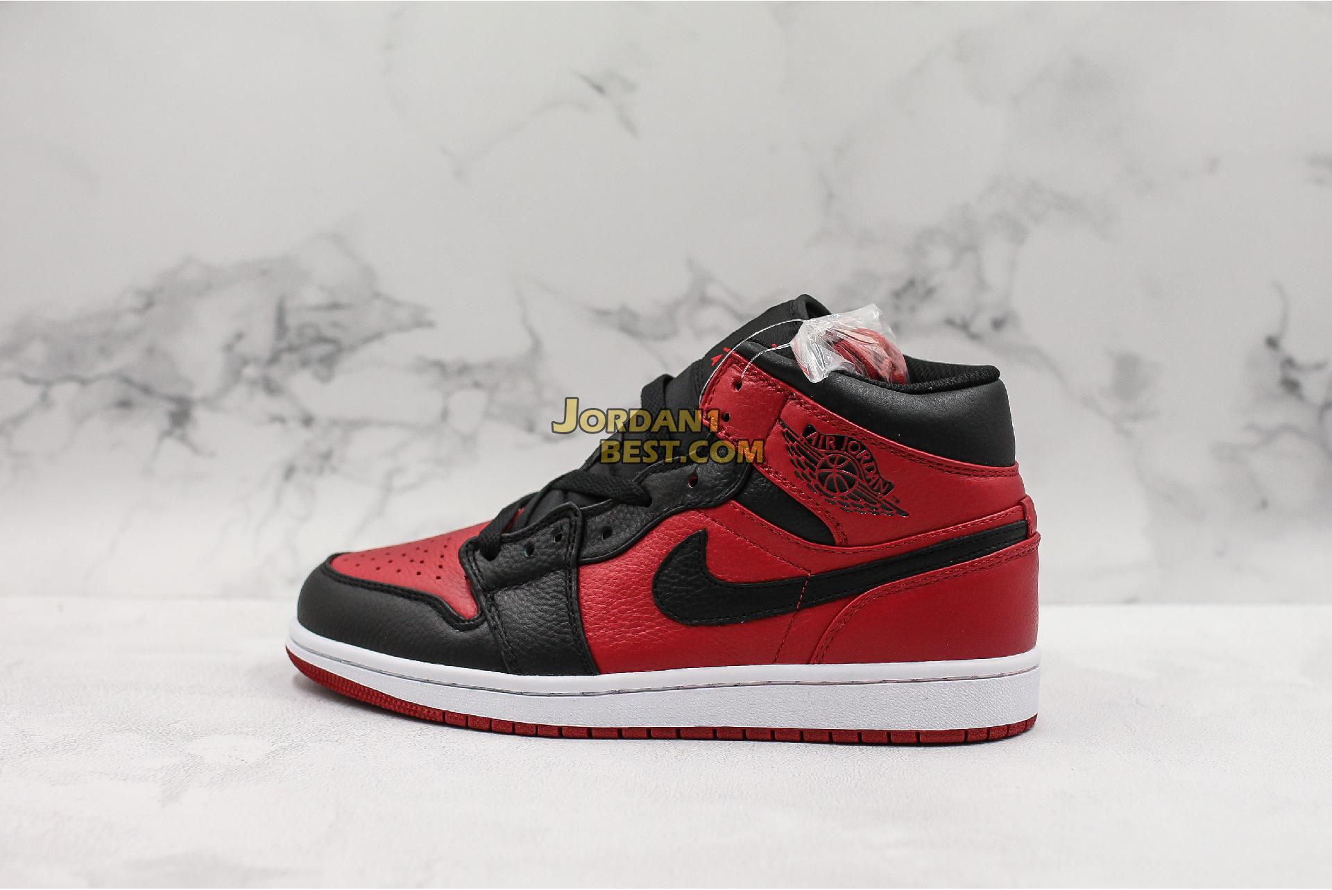 "Air Jordan 1 Mid ""Banned"" 554724-610 Mens Womens"