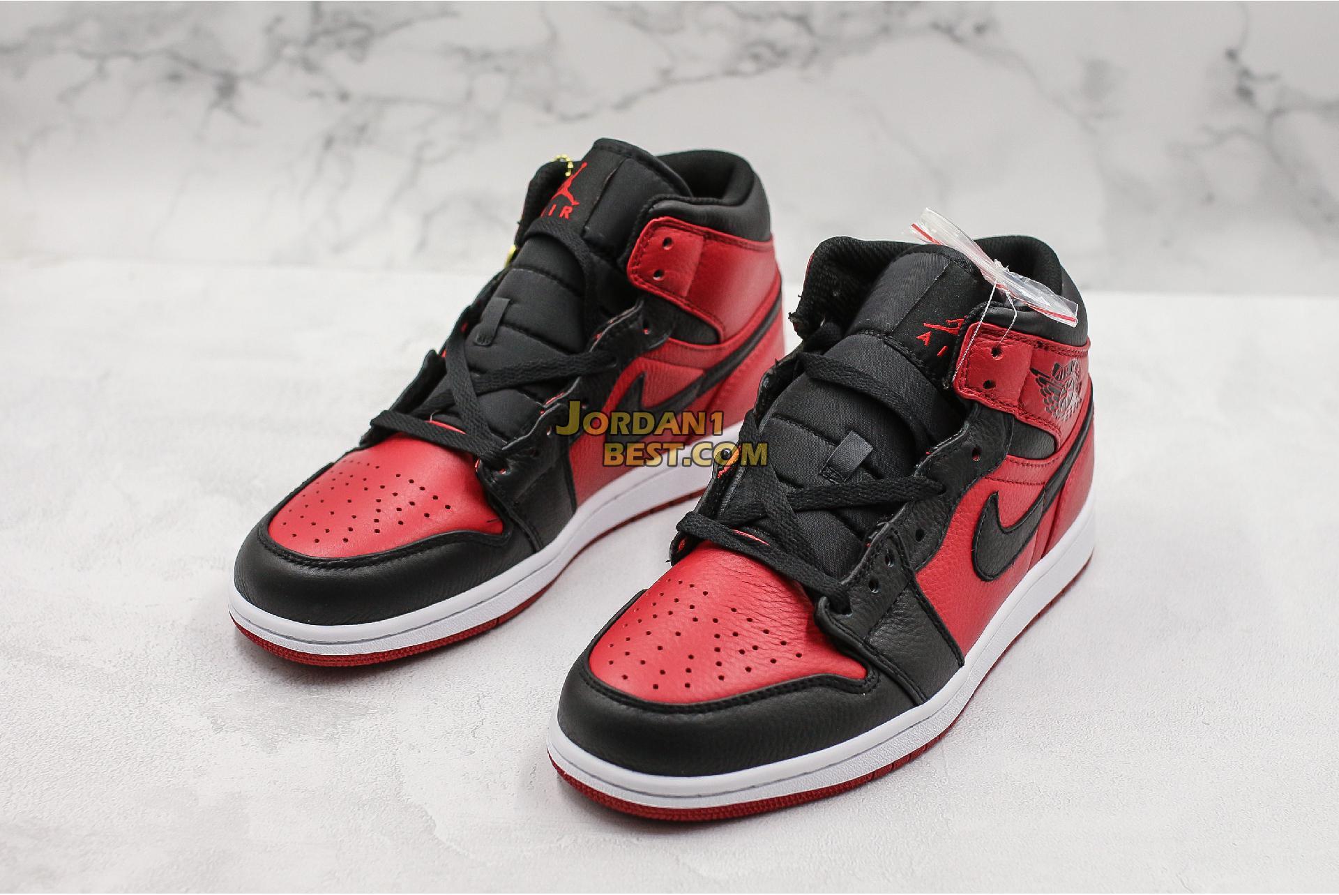 "Air Jordan 1 Mid ""Banned"" 554724-610 Mens Womens"