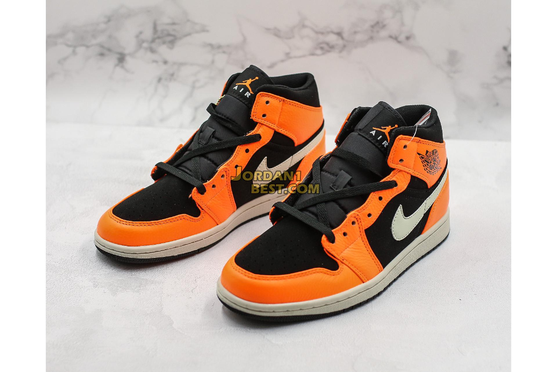 "Air Jordan 1 Mid ""Black Cone"" 554724-062 Mens"