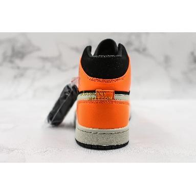 "new replicas Air Jordan 1 Mid ""Black Cone"" 554724-062 Mens orange/black Shoes replicas On Wholesale Sale Online"