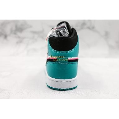 "best replicas Air Jordan 1 Mid SE ""South Beach"" 852542-306 Mens turbo green/black-hyper pink-orange peel Shoes replicas On Wholesale Sale Online"