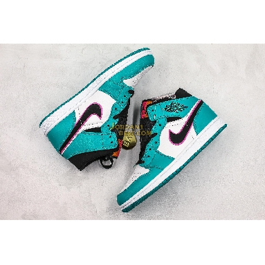"best replicas Air Jordan 1 Mid SE ""South Beach"" 852542-306 Mens turbo green/black-hyper pink-orange peel Shoes replicas On Wholesale Sale Online"