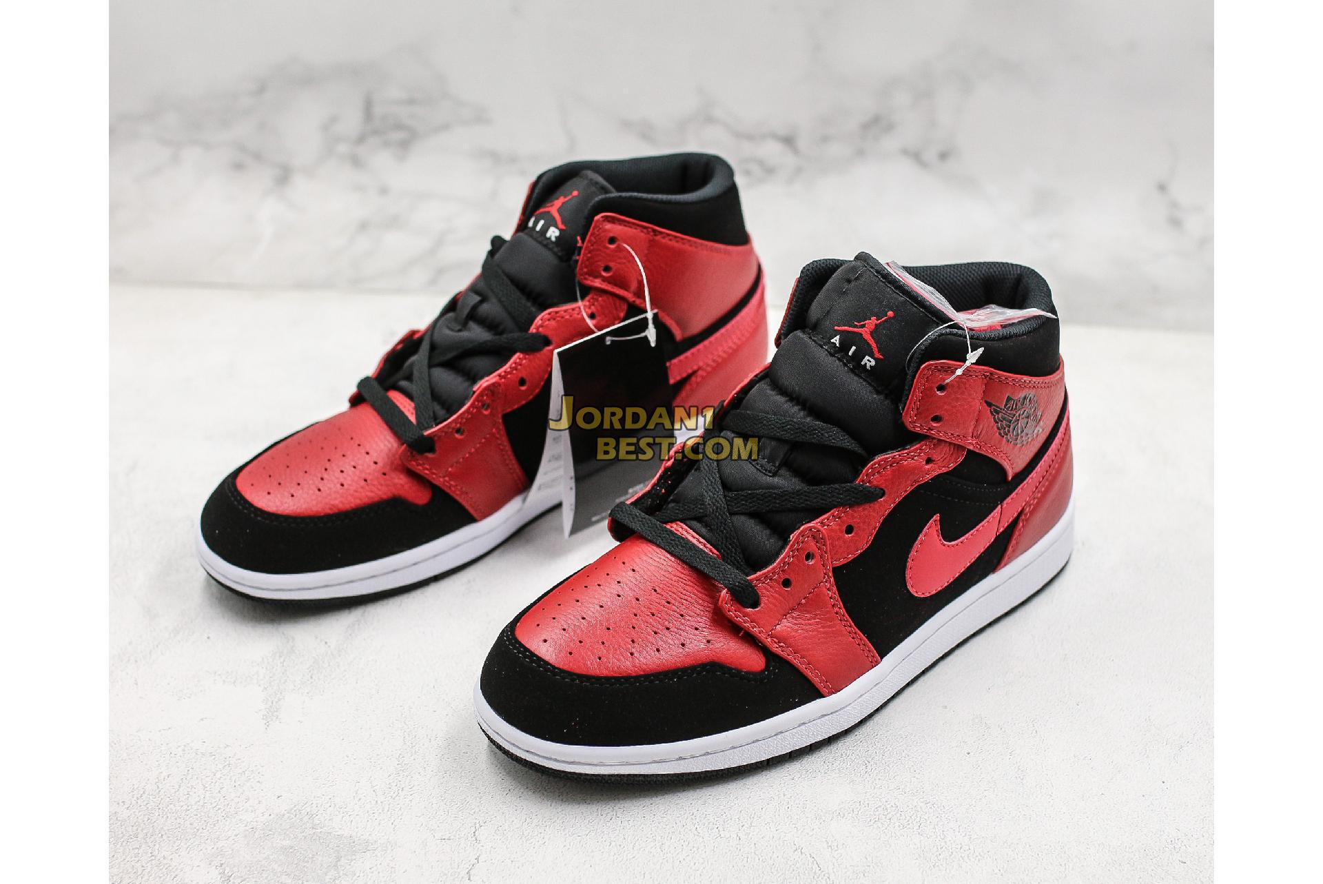 "Air Jordan 1 Mid ""Bred"" 554724-054 Mens"