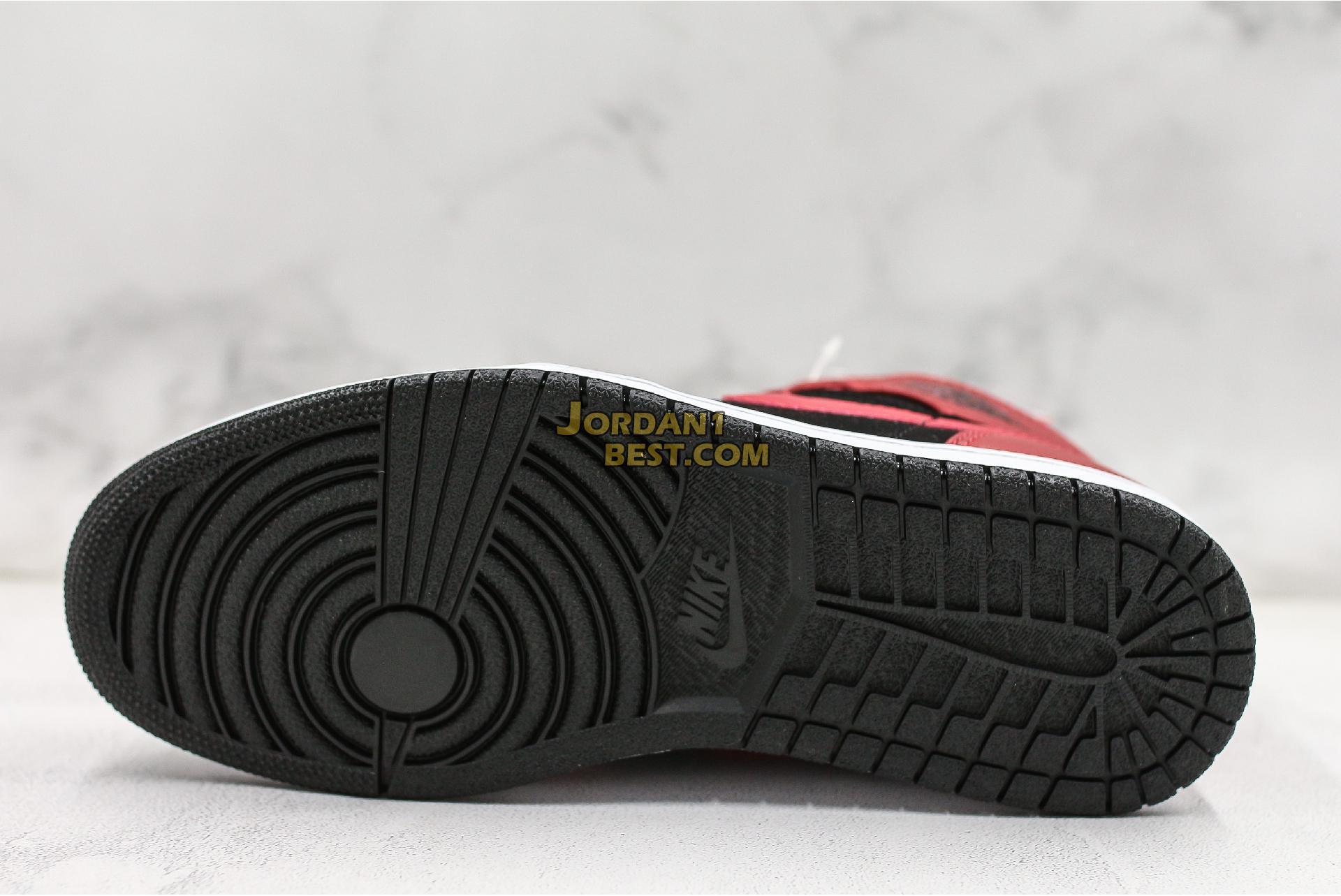 "Air Jordan 1 Mid ""Bred"" 554724-054 Mens"