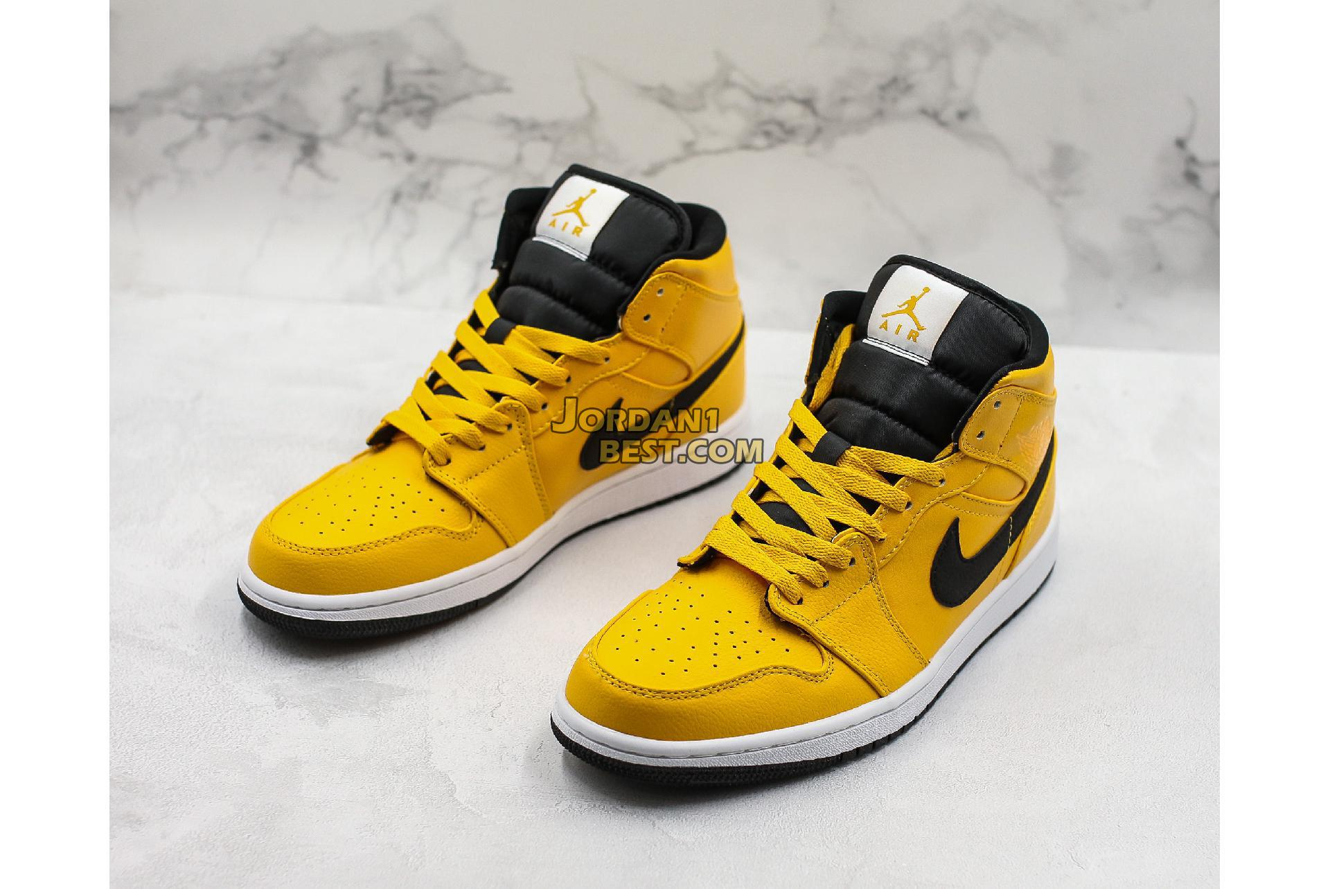 "Air Jordan 1 Mid ""University Gold"" 554724-700 Mens Womens"