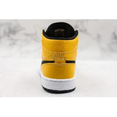 "fake Air Jordan 1 Mid ""University Gold"" 554724-700 Mens Womens university gold/black-white-gym red Shoes replicas On Wholesale Sale Online"