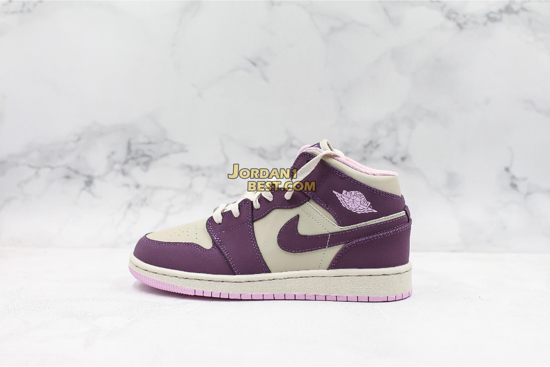 "Air Jordan 1 Retro Mid GS ""Pro Purple"" 555112-500 Womens"