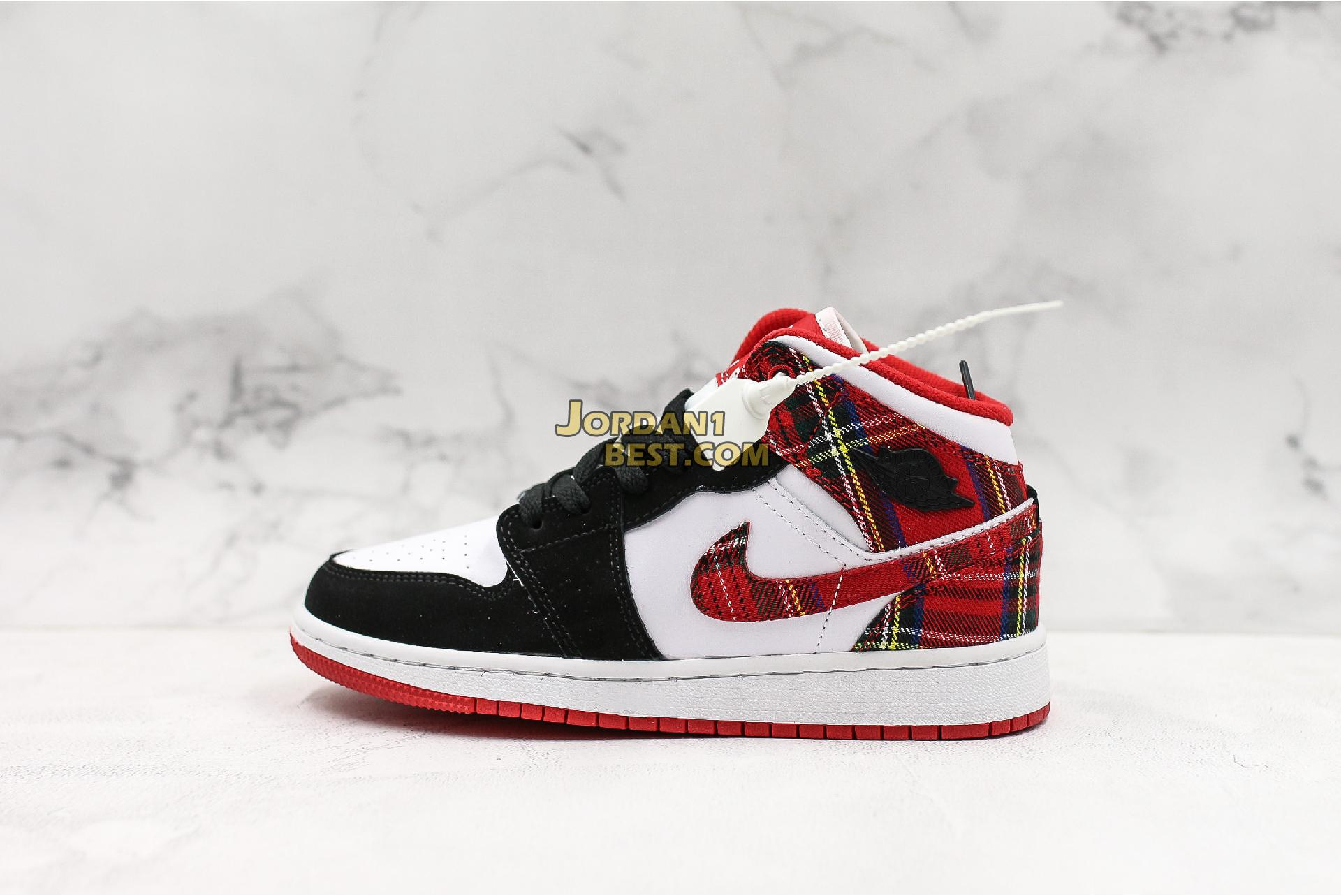 "Air Jordan 1 Retro Mid GS ""Bad Santa"" 554725-607 Mens Womens"
