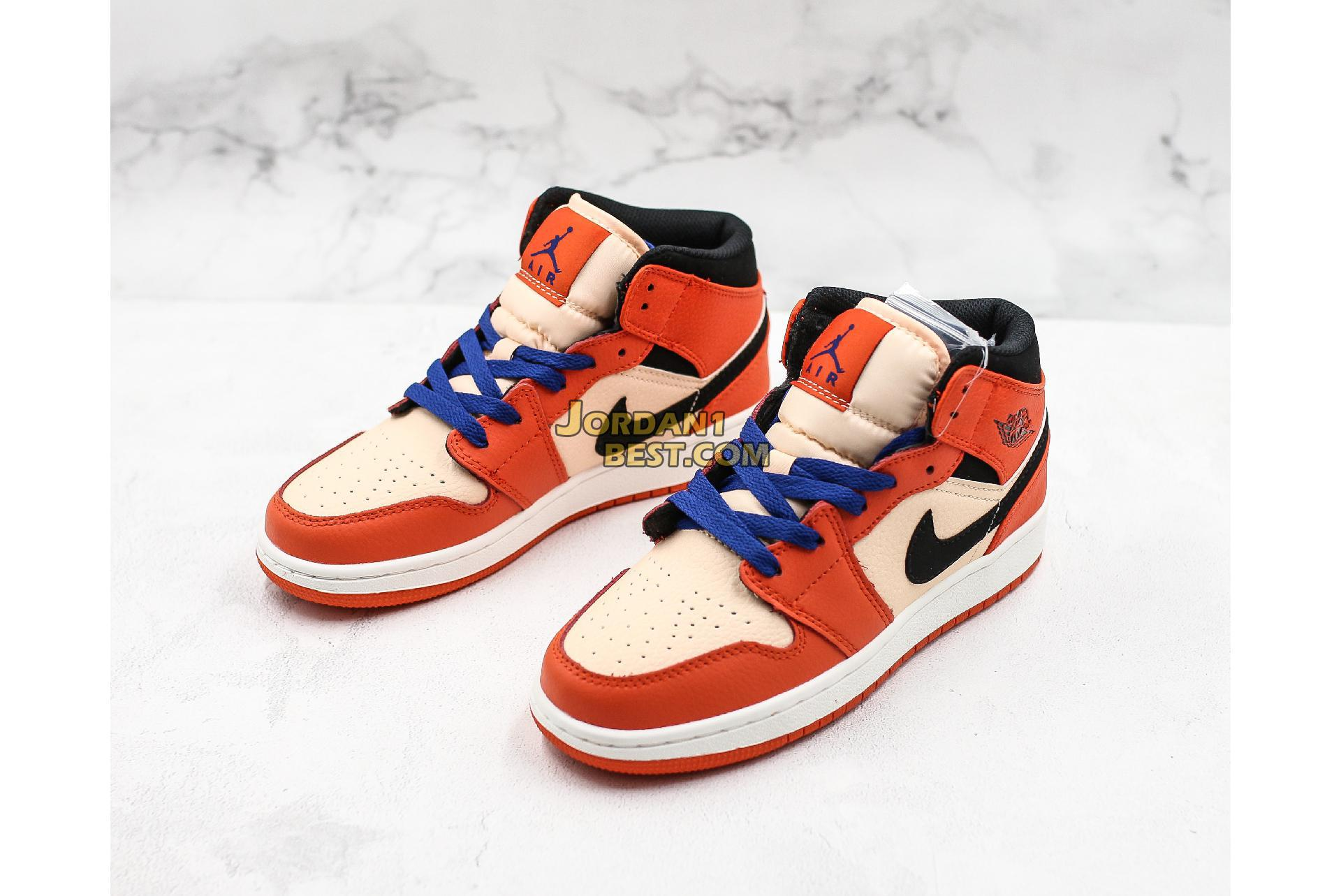 "Air Jordan 1 Mid SE GS ""Team Orange"" BQ6931-800 Womens"