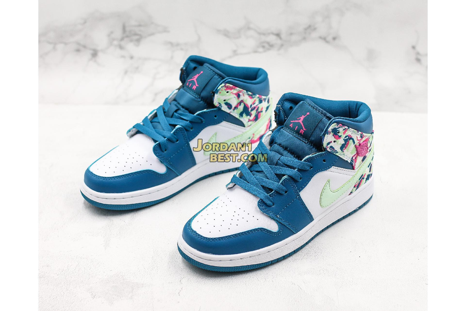 "Air Jordan 1 Mid GS ""Paint Stroke"" 555112-300 Womens"