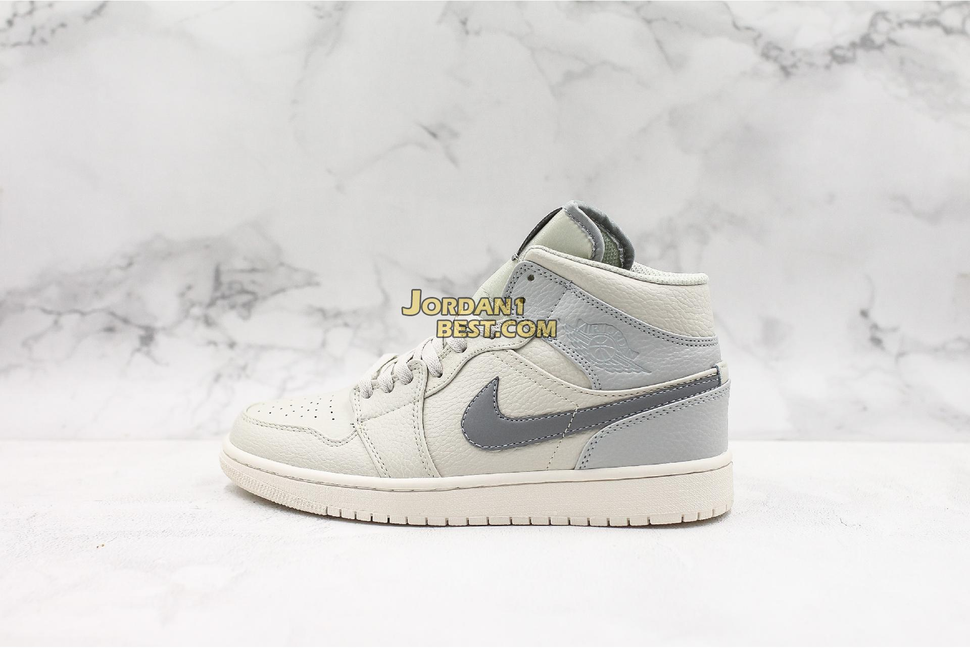 "Air Jordan 1 Mid Retro SE ""Grey Fog"" 852542-003 Mens"