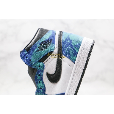 "new replicas Air Jordan 1 High OG ""Tie-Dye"" CD0461-100 Mens white/black-aurora green Shoes replicas On Wholesale Sale Online"