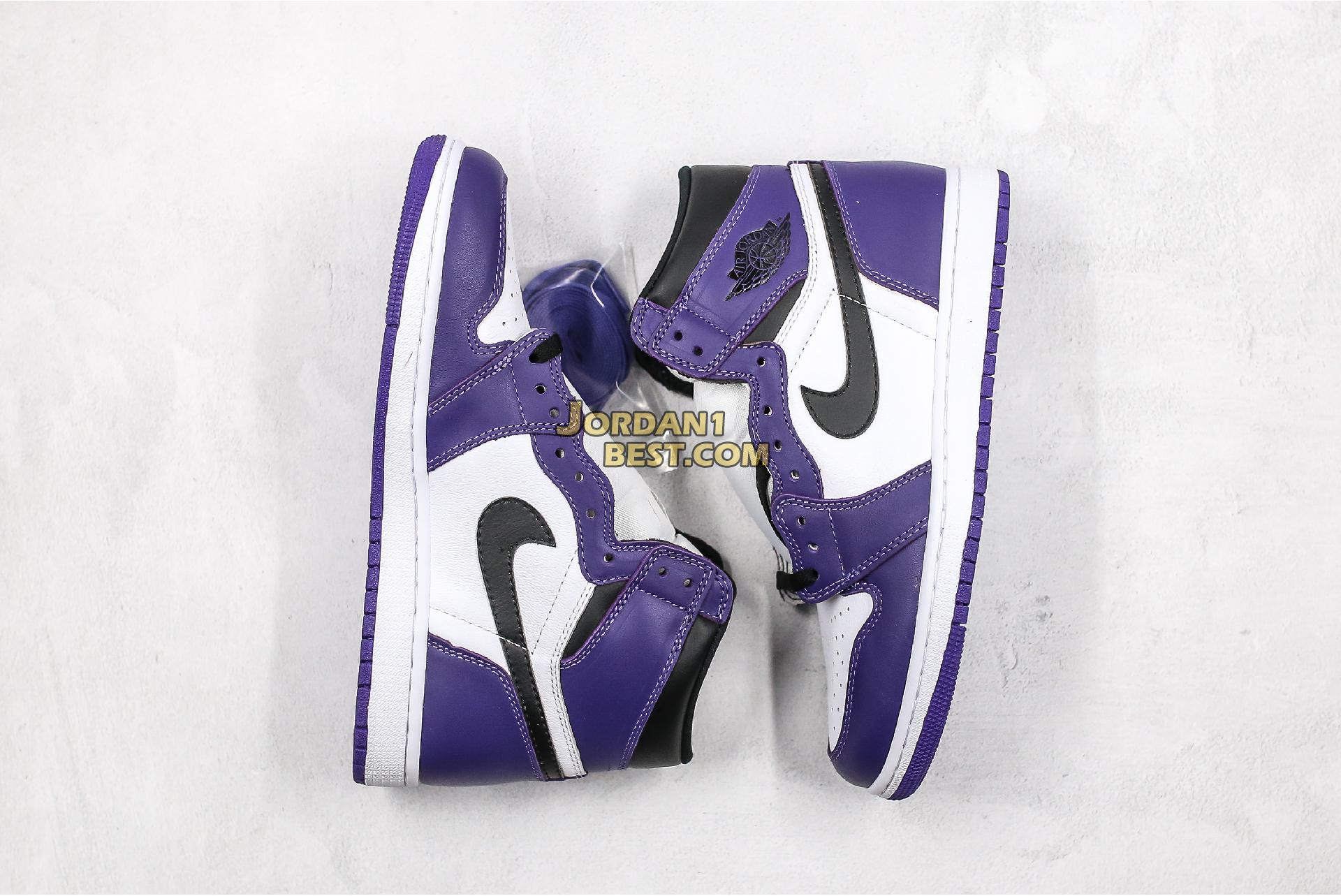 "2020 Air Jordan 1 Retro High OG ""Court Purple"" 555088-500 Mens Womens"