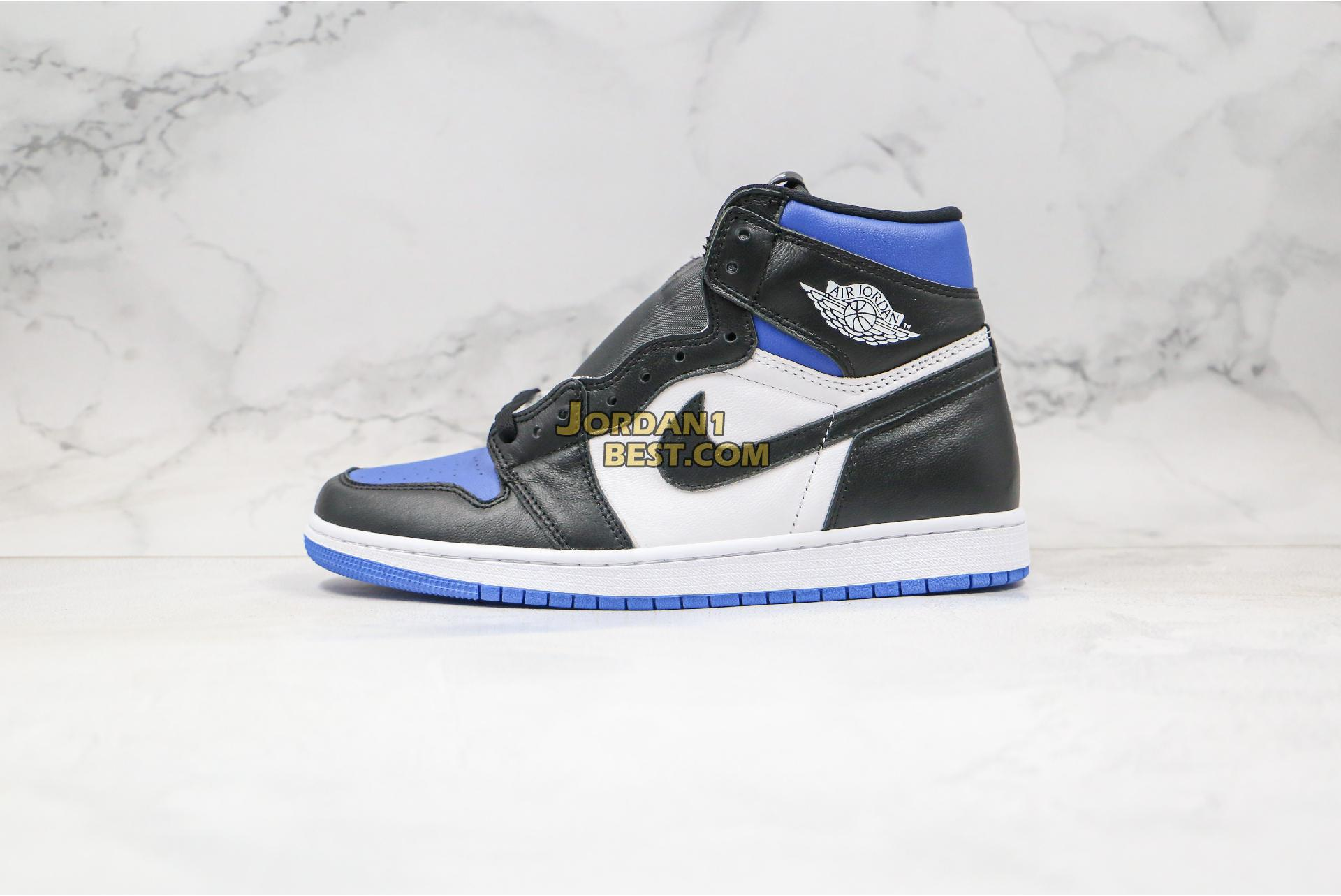 "2020 Air Jordan 1 Retro High OG ""Royal Toe"" 555088-041 Mens Womens"