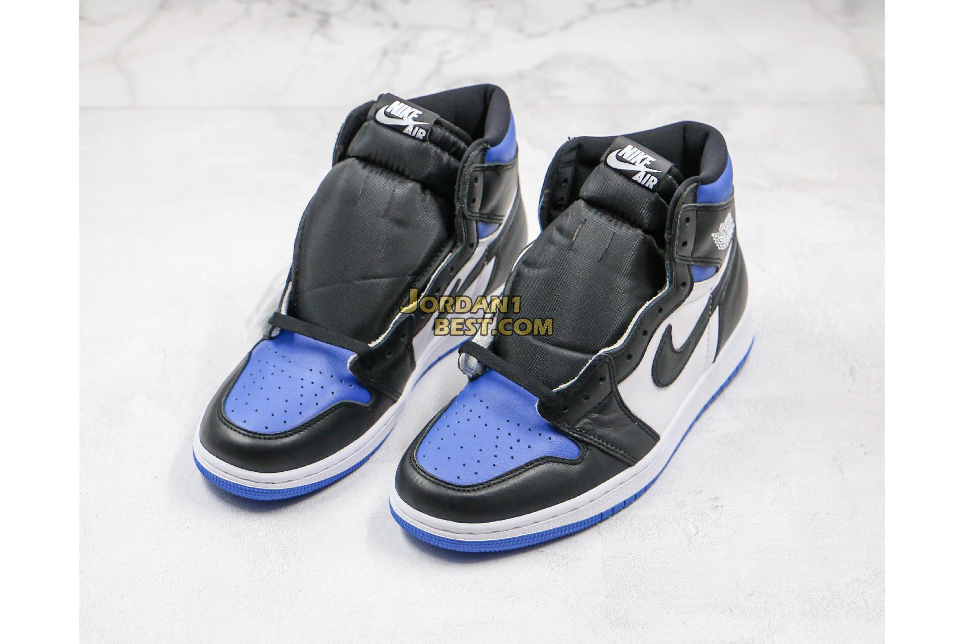 "2020 Air Jordan 1 Retro High OG ""Royal Toe"" 555088-041 Mens Womens"