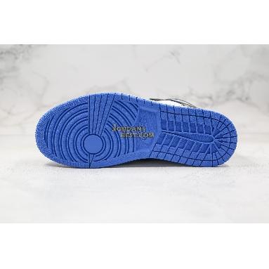 "best replicas 2020 Air Jordan 1 Retro High OG ""Royal Toe"" 555088-041 Mens Womens black/white/game royal/black Shoes replicas On Wholesale Sale Online"