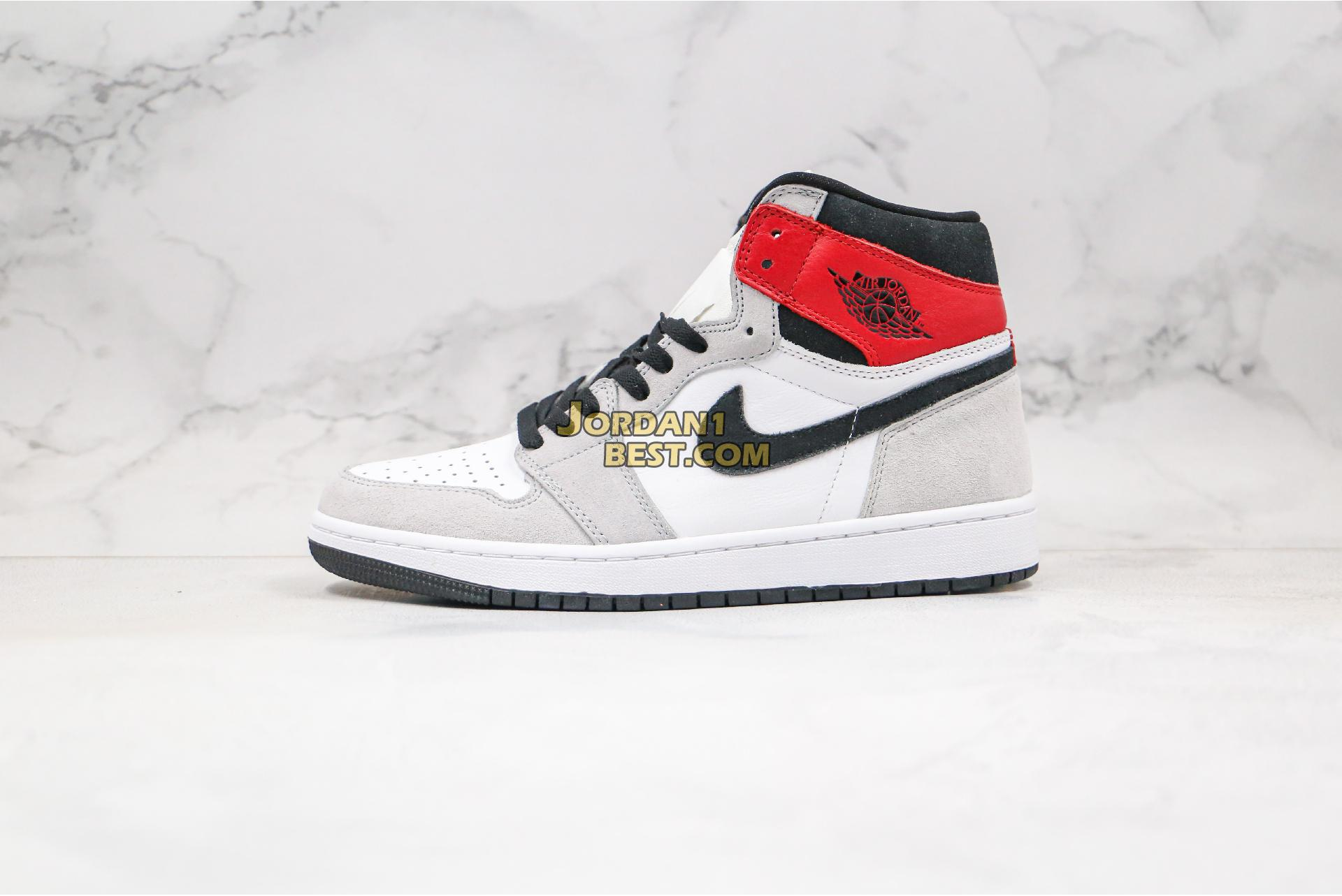 "Air Jordan 1 Retro High OG ""Light Smoke Grey"" 555088-126 Mens Womens"