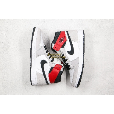 "top 3 fake Air Jordan 1 Retro High OG ""Light Smoke Grey"" 555088-126 Mens Womens white/black-light smoke grey-varsity red Shoes replicas On Wholesale Sale Online"
