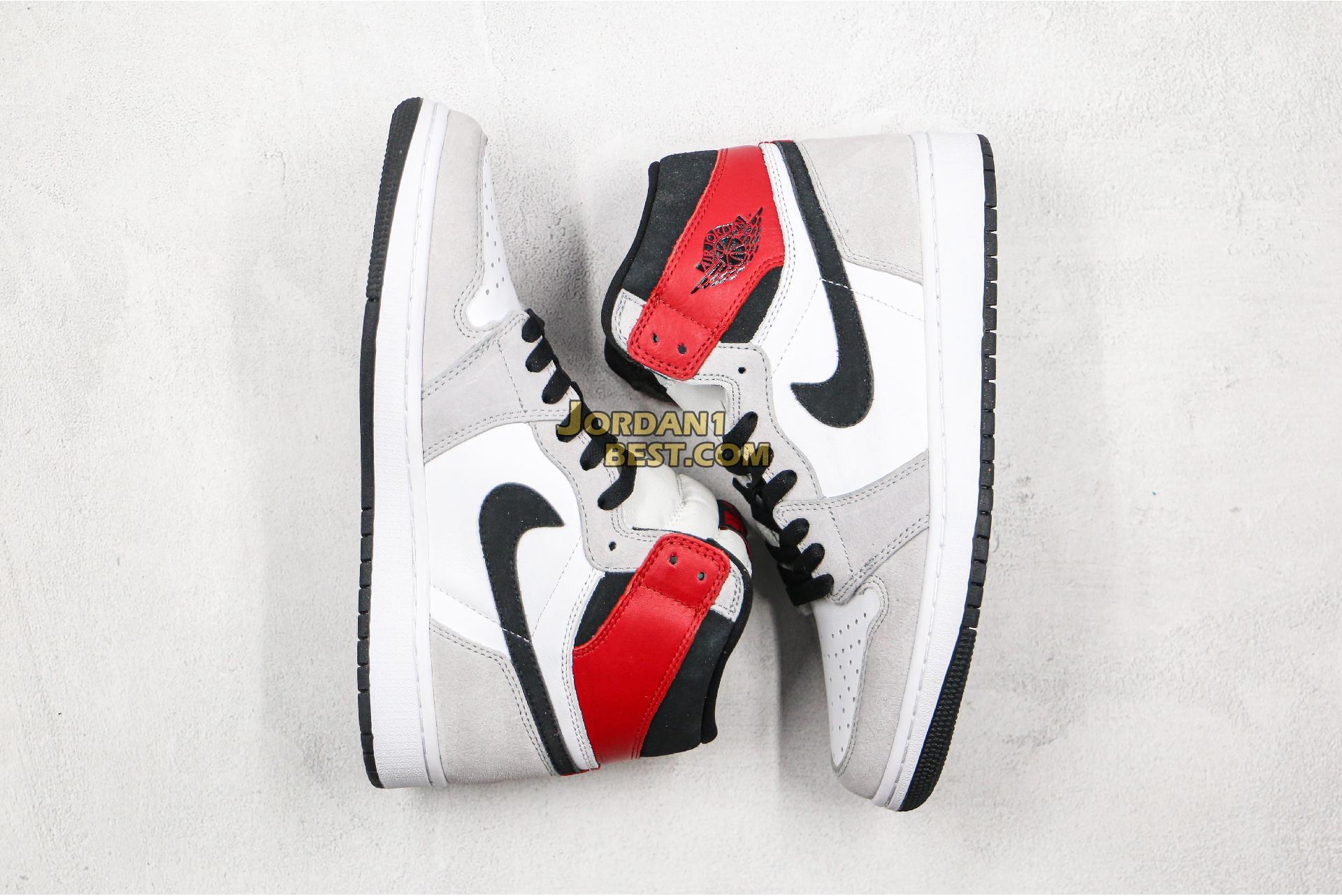 """Air Jordan 1 Retro High OG """"Light Smoke Grey"""" 555088-126 Mens Womens"""