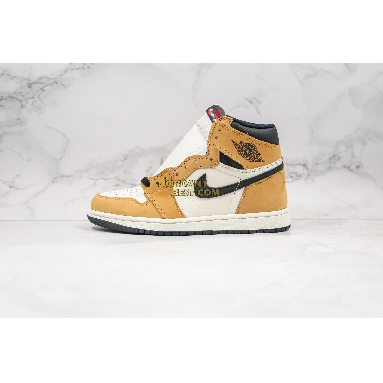 """new replicas Air Jordan 1 Retro High OG """"Rookie of the Year"""" Sample 555088-700 Mens Womens gold harvest/black-sail Shoes replicas On Wholesale Sale Online"""