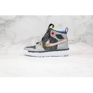 """new replicas Air Jordan 1 React """"Multi-Color"""" AR5321-002 Mens grey/black/white Shoes replicas On Wholesale Sale Online"""