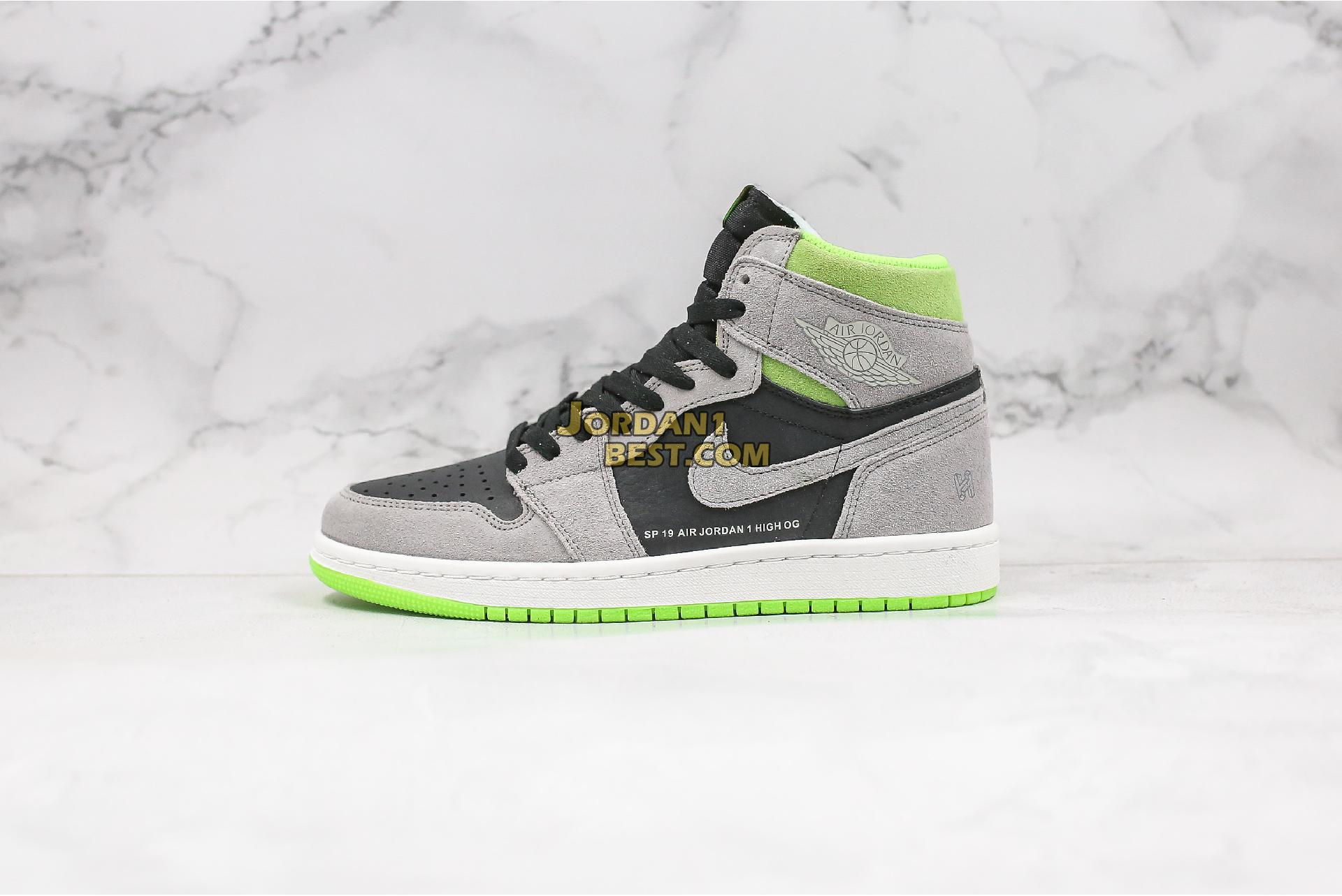 "Air Jordan 1 Retro High OG ""Neutral Grey Volt"" 555088-070 Mens Womens"