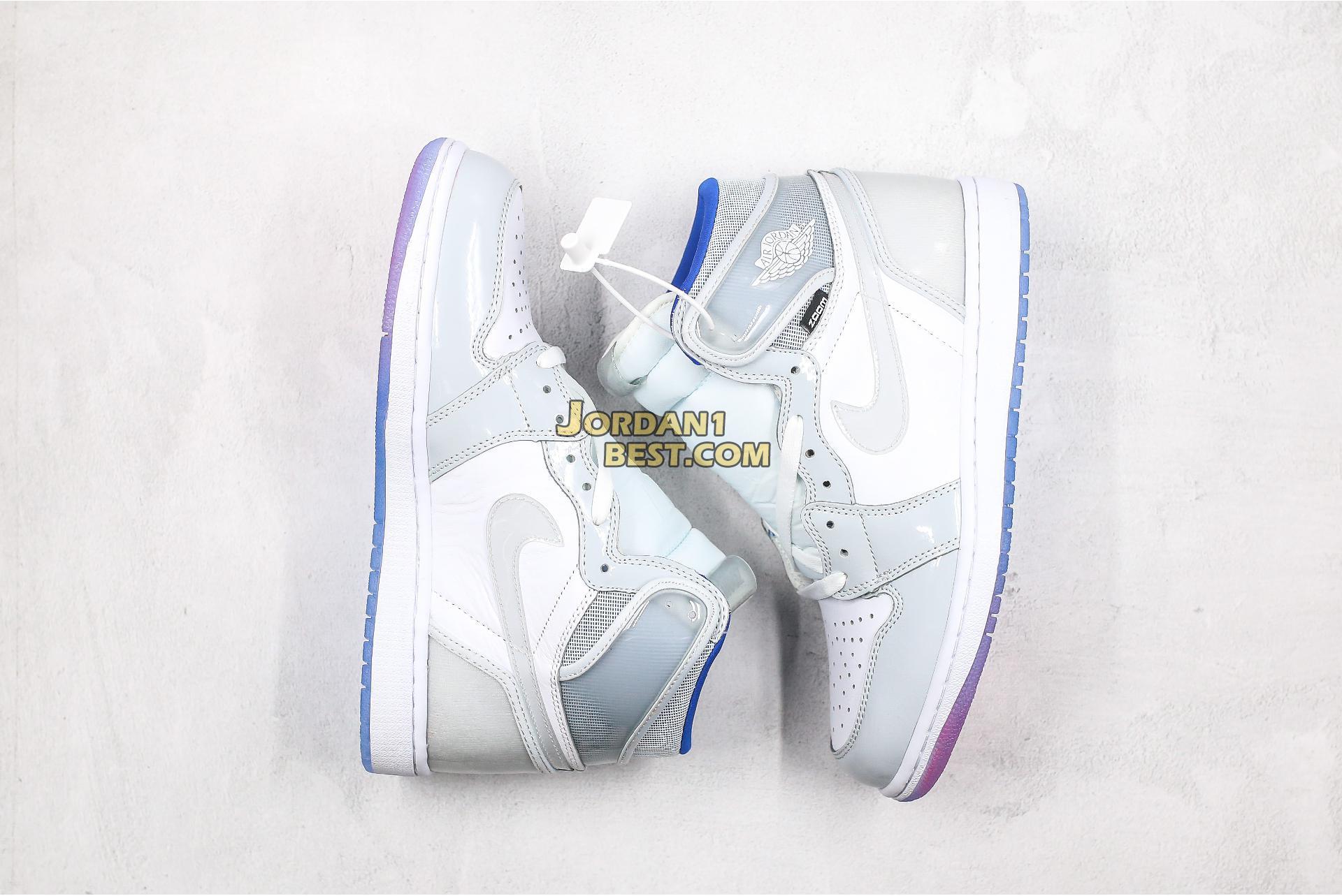 "Air Jordan 1 High Zoom ""Racer Blue"" CK6637-104 Mens Womens"