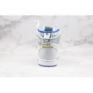 "best replicas Air Jordan 1 High Zoom ""Racer Blue"" CK6637-104 Mens Womens white/racer blue-white Shoes replicas On Wholesale Sale Online"