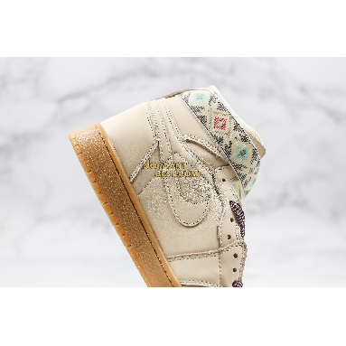 "top 3 fake Air Jordan 1 Retro Hi Strap ""N7"" AR4410-207 Mens light cream/gum yellow-emerald rise-light cream Shoes replicas On Wholesale Sale Online"
