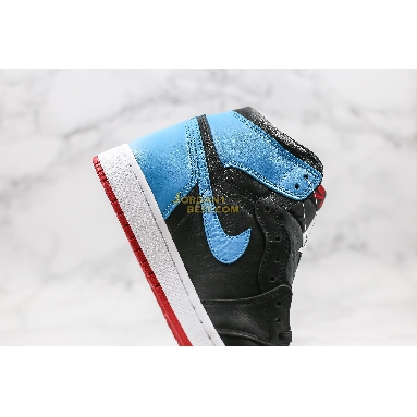 "best replicas Air Jordan 1 High OG ""UNC To Chicago"" CD0461-046 Mens Womens black/dark powder blue/gym red Shoes replicas On Wholesale Sale Online"