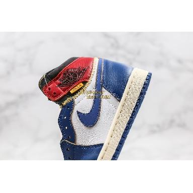 "top 3 fake Union x Air Jordan 1 Retro High ""Storm Blue"" BV1300-146 Mens white/storm blue-varsity red Shoes replicas On Wholesale Sale Online"